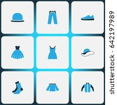garment colorful icons set.... | Shutterstock .eps vector #642197989