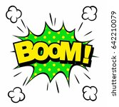 wording sound effect for comic... | Shutterstock .eps vector #642210079