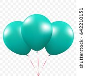 3 balloons. on transparant... | Shutterstock .eps vector #642210151