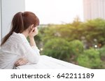 woman feel depression and look... | Shutterstock . vector #642211189