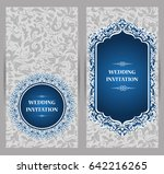wedding invitation or card with ...   Shutterstock .eps vector #642216265