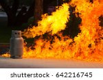 gas flame and explosive from... | Shutterstock . vector #642216745