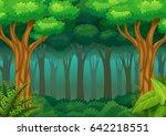 green forest background | Shutterstock . vector #642218551