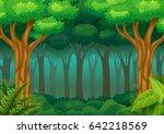 vector illustration of green... | Shutterstock .eps vector #642218569