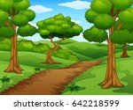 vector illustration of forest... | Shutterstock .eps vector #642218599