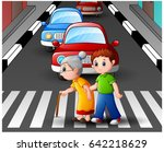 vector illustration of cartoon... | Shutterstock .eps vector #642218629