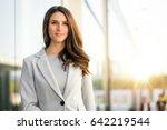 beautiful business woman... | Shutterstock . vector #642219544
