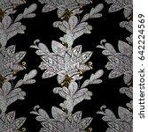 damask seamless pattern... | Shutterstock . vector #642224569