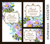 vintage delicate invitation... | Shutterstock .eps vector #642226735