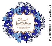 vintage delicate invitation... | Shutterstock .eps vector #642226771