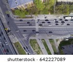 road junction with a pedestrian ... | Shutterstock . vector #642227089