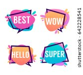 cute and bright speech bubbles... | Shutterstock .eps vector #642228541
