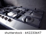 gas stove in kitchen   Shutterstock . vector #642233647