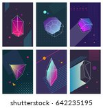 trendy hipster posters set with ... | Shutterstock .eps vector #642235195