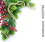 christmas border | Shutterstock . vector #64223782
