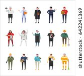 job uniform woman character set ... | Shutterstock .eps vector #642241369