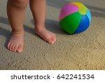Baby Feet Walking On Sand Beach ...