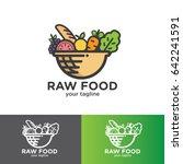 raw food logo design | Shutterstock .eps vector #642241591