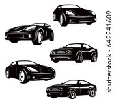 set of cars icons isolated on... | Shutterstock .eps vector #642241609