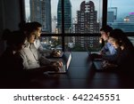 business overtime concepts .... | Shutterstock . vector #642245551
