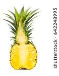 half of ripe pineapple on... | Shutterstock . vector #642248995