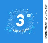 3rd anniversary fireworks and... | Shutterstock .eps vector #642249559