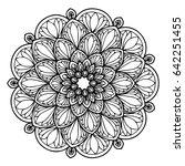 mandalas for coloring book.... | Shutterstock .eps vector #642251455