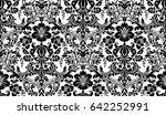 vector seamless damask pattern. ... | Shutterstock .eps vector #642252991