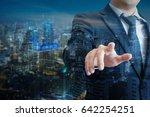 double exposure of professional ... | Shutterstock . vector #642254251