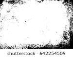 grunge black paint frame  ... | Shutterstock . vector #642254509