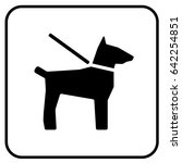 dogs on leash sign white.... | Shutterstock .eps vector #642254851