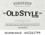 font.alphabet.script.typeface... | Shutterstock .eps vector #642261799