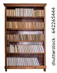 Books On Wooden Shelves In The...