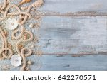 Sea Shells In A Fishnet On...