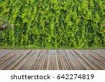 old hardwood decking or... | Shutterstock . vector #642274819