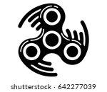 rolling fidget spinner icon  ... | Shutterstock .eps vector #642277039