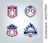 vector design set of baseball... | Shutterstock .eps vector #642279565