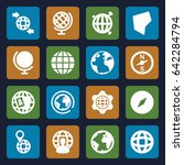 geography icons set. set of 16... | Shutterstock .eps vector #642284794