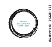 hand drawn circle shape. label  ... | Shutterstock .eps vector #642284935