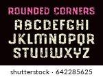 sanserif font in sport style... | Shutterstock .eps vector #642285625