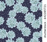 seamless cute pattern with... | Shutterstock .eps vector #642285721