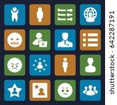 user icons set. set of 16 user... | Shutterstock .eps vector #642287191