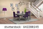 interior dining area. 3d... | Shutterstock . vector #642288145