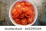 tomato slice   Shutterstock . vector #642290104
