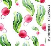 seamless pattern of fresh... | Shutterstock . vector #642290221