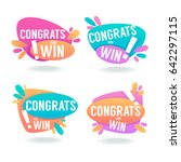congrats  you win  vector... | Shutterstock .eps vector #642297115