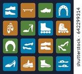 shoe icons set. set of 16 shoe...   Shutterstock .eps vector #642299314