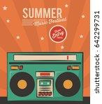 summer music festival stereo... | Shutterstock .eps vector #642299731