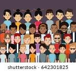 character people multiethnic... | Shutterstock .eps vector #642301825