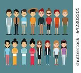character people oriental and... | Shutterstock .eps vector #642303205